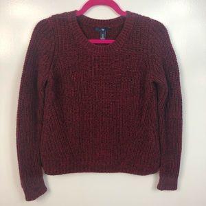 GAP Cable Knit Crop Long Sleeve Sweater Crewneck